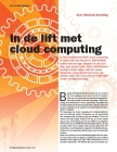 Image for In de lift met cloud computing