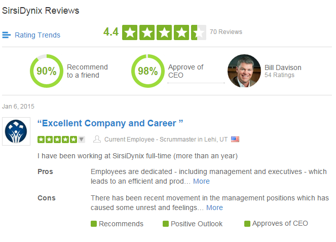 SirsiDynix Glassdoor Ratings