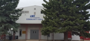 Bethune Library <br />in the community hall
